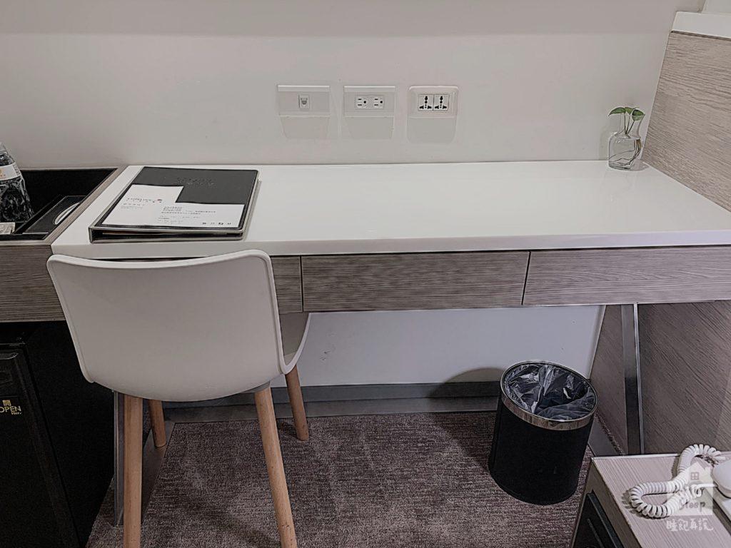 台北 新驛旅店 房間內書桌